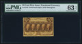 Fractional Currency:First Issue, Fr. 1279 25¢ First Issue PMG Choice Uncirculated 63 EPQ.. ...
