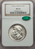 Commemorative Silver, 1936-D 50C Boone MS65 NGC. CAC. NGC Census: (394/223). PCGS Population: (575/342). CDN: $170 Whsle. Bid for problem-free NG...