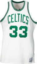 Basketball Collectibles:Uniforms, 1986 Larry Bird NBA Finals Game Worn Boston Celtics Jersey with Letter from Future Wife.. ...