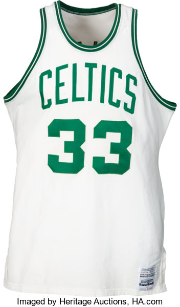 9521b65829f1 1986 Larry Bird NBA Finals Game Worn Boston Celtics Jersey