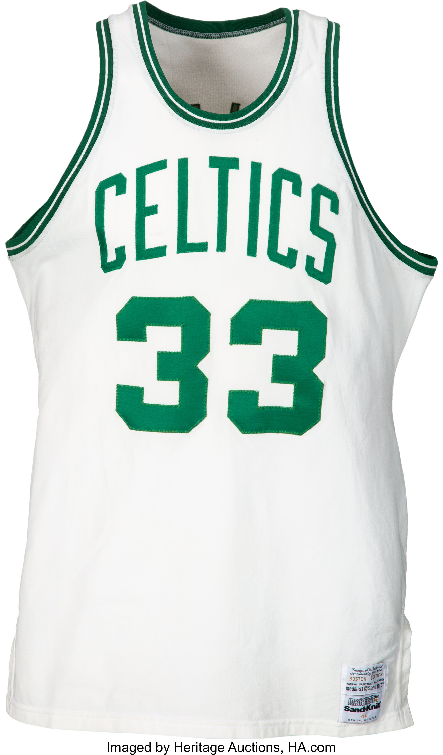 official photos b2008 8a4cc 1986 Larry Bird NBA Finals Game Worn Boston Celtics Jersey ...