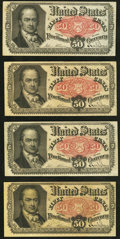 Fractional Currency:Fifth Issue, Fr. 1381 50¢ Fifth Issue Fine-Very Fine or better.. ... (Total: 4 notes)