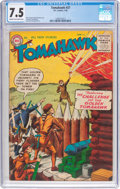 Golden Age (1938-1955):Western, Tomahawk #37 (DC, 1956) CGC VF- 7.5 Cream to off-white pages....