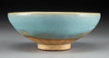 Asian:Chinese, A Chinese Jun-Type Earthenware Bowl, Song-Yuan Dynasty. 2-3/4inches high x 7 inches diameter (7.0 x 17.8 cm).