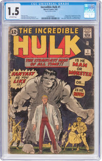 The Incredible Hulk #1 (Marvel, 1962) CGC FR/GD 1.5 Off-white pages
