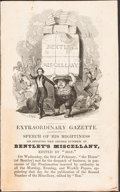 Books:Literature Pre-1900, Charles Dickens. Extraordinary Gazette. [London: 1837.] Later printing, issued separately. ...