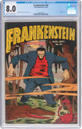 Golden Age (1938-1955):Horror, Frankenstein Comics #20 (Prize, 1952) CGC VF 8.0 Cream to off-white pages....