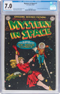 Golden Age (1938-1955):Science Fiction, Mystery in Space #1 (DC, 1951) CGC FN/VF 7.0 Off-white to whitepages....