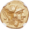 Ancients: CENTRAL EUROPE. Imitation of Macedonian Kingdom. Alexander III the Great (336-323 BC). AV stater (17mm, 8.57 g...