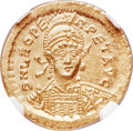 Ancients:Roman Imperial, Ancients: Leo I the Great (AD 457-474). AV solidus (20mm, 4.47 gm,5h). NGC Gem MS 5/5 - 5/5....