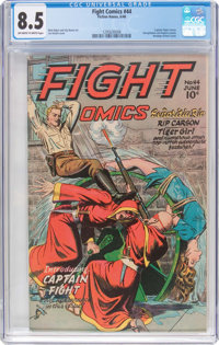 Fight Comics #44 (Fiction House, 1946) CGC VF+ 8.5 Off-white to white pages