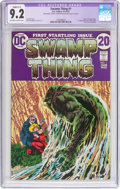 Bronze Age (1970-1979):Horror, Swamp Thing #1 (DC, 1972) CGC Apparent NM- 9.2 Slight (C-1)Off-white to white pages....