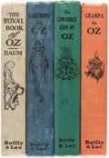 Books:Children's Books, [L. Frank Baum]. Ruth Plumly Thompson. Group of Four Oz Books. Chicago: [1921-1924]. First editions.... (Total: 4 Items)