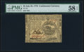 Colonial Notes:Continental Congress Issues, Continental Currency July 22, 1776 $4 PMG Choice About Unc 58 EPQ.. ...