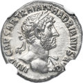 Ancients:Roman Imperial, Ancients: Hadrian (AD 117-138). AR denarius (18mm, 3.54 gm, 7h).NGC Choice AU ★ 5/5 - 4/5....
