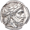 Ancients:Greek, Ancients: MACEDONIAN KINGDOM. Philip II (359-336 BC). AR tetradrachm (24mm, 14.44 gm, 10h). NGC MS ★ 5/5 - 4/5....