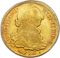 Colombia, Colombia: Charles III gold 4 Escudos 1776 P-SF XF45 PCGS,...