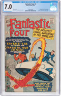 Silver Age (1956-1969):Superhero, Fantastic Four #3 (Marvel, 1962) CGC FN/VF 7.0 Off-white to white pages....