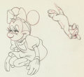 Animation Art:Production Drawing, First Aiders Minnie Mouse and Pluto Animation Drawing (WaltDisney, 1944)....
