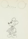 Animation Art:Production Drawing, Around the World in 80 Minutes Mickey Mouse AnimationDrawing (Walt Disney, 1931). ...