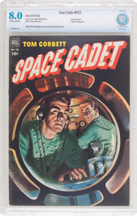 Four Color #421 Tom Corbett, Space Cadet (Dell, 1952) CBCS VF 8.0 Off-white to white pages