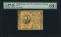 Colonial Notes:Continental Congress Issues, Continental Currency September 26, 1778 $30 PMG Choice Uncirculated64 EPQ.. ...