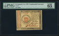 Colonial Notes:Continental Congress Issues, Continental Currency January 14, 1779 $1 PMG Gem Uncirculated 65 EPQ.. ...