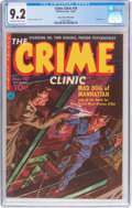 Golden Age (1938-1955):Crime, The Crime Clinic #10 (#1) Mile High Pedigree (Ziff-Davis, 1951) CGC NM- 9.2 Off-white to white pages....