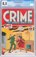 Golden Age (1938-1955):Crime, Crime Does Not Pay #45 Mile High Pedigree (Lev Gleason, 1946) CGC VF+ 8.5 White pages....