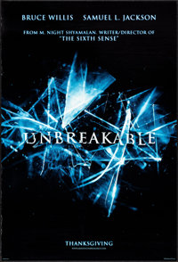 "Unbreakable & Others Lot (Buena Vista, 2000). One Sheets (3) (27"" X 40"") DS Advance. Drama. ... (Total: 3..."