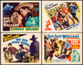 """Movie Posters:Western, Big Boy Rides Again & Others (Beacon, 1935). Title Lobby Cards (3) & Lobby Card (11"""" X 14""""). Western.. ... (Total: 4 Items)"""