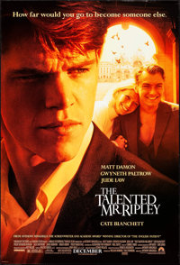 """The Talented Mr. Ripley & Others Lot (Paramount, 1999) Rolled, Overall: Very Fine+. One Sheets (3) (27"""" X 40&qu..."""