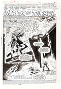 Original Comic Art:Splash Pages, Mike Clark and Vince Colletta All-Star Squadron #53 SplashPage 1 Original Art (DC, 1985)....