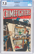 Golden Age (1938-1955):Crime, Crimefighters #2 Mile High Pedigree (Marvel, 1948) CGC VF- 7.5 Off-white to white pages....