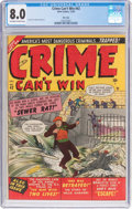 Golden Age (1938-1955):Crime, Crime Can't Win #42 (#2) Mile High Pedigree (Marvel, 1950) CGC VF 8.0 Off-white to white pages....