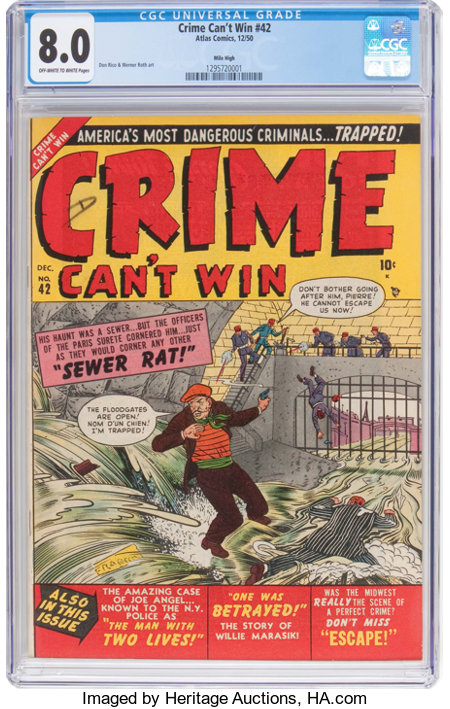Crime Can't Win #42 (#2) Mile High Pedigree (Marvel, 1950) CGC VF 8.0 Off-white to white pages....