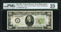 Small Size:Federal Reserve Notes, Fr. 2054-I* $20 1934 Light Green Seal Federal Reserve Note. PMG Very Fine 25.. ...