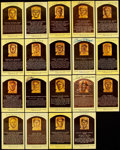 Autographs:Post Cards, Hall of Fame Yellow Post Card Plaque Signed Lot of 19.... (Total: 19 items)