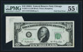 Error Notes:Foldovers, Fr. 2011-G $10 1950A Federal Reserve Note. PMG About Uncirculated55 EPQ.. ...