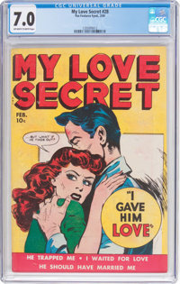 My Love Secret #28 (Fox Features Syndicate, 1950) CGC FN/VF 7.0 Off-white to white pages