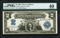 Large Size:Silver Certificates, Fr. 258 $2 1899 Silver Certificate PMG Extremely Fine 40.. ...