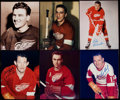 Autographs:Photos, Detroit Red Wings Signed Photograph Lot of Nine. ...