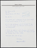 Boxing Collectibles:Autographs, 1991 Muhammad Ali Signed Letter. ...