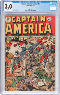 Captain America Comics #46 (Timely, 1945) CGC GD/VG 3.0 Brittle pages
