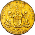 """India:British India, India: British India. Madras Presidency - East India Company gold """"Large Lettering"""" Mohur ND (1819) AU50 NGC,..."""