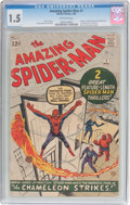 Silver Age (1956-1969):Superhero, The Amazing Spider-Man #1 (Marvel, 1963) CGC FR/GD 1.5 Off-whitepages....