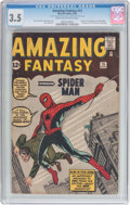 Silver Age (1956-1969):Superhero, Amazing Fantasy #15 (Marvel, 1962) CGC VG- 3.5 Cream to off-whitepages....