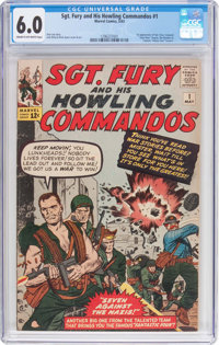 Sgt. Fury and His Howling Commandos #1 (Marvel, 1963) CGC FN 6.0 Cream to off-white pages