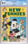 Golden Age (1938-1955):Funny Animal, New Funnies #76 File Copy (Dell, 1943) CGC VF+ 8.5 Off-whitepages....
