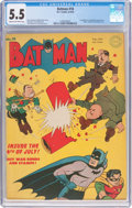 Golden Age (1938-1955):Superhero, Batman #18 (DC, 1943) CGC FN- 5.5 Cream to off-white pages....
